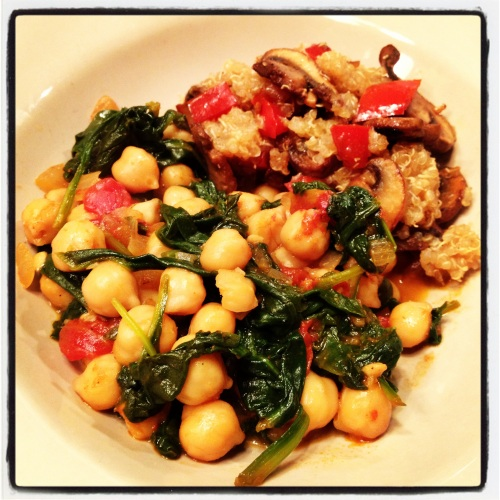 garbonzos con espinacas chickpeas with spinach is a healthy dish ...