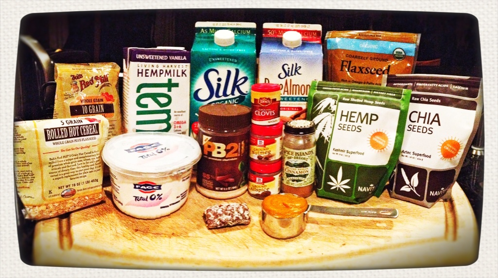 Pumpkin spice overnight oats main ingredients